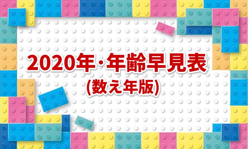 【2020年の年齢早見表】西暦・和暦・十二支 | 数え年版